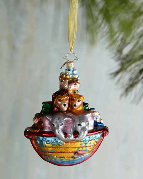 christopher radko two by two noahs ark christmas ornament
