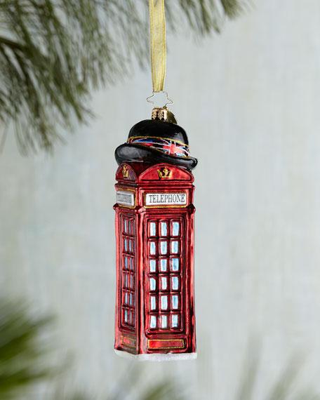 Allo & Allo British Phone Booth Christmas Ornament
