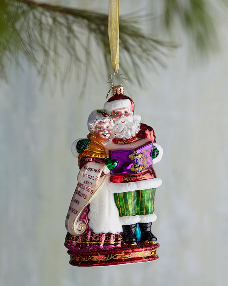Quite a Team Mr. & Mrs. Santa Christmas Ornament