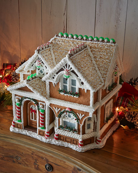 After Christmas Furniture Sales: Peppermint Porch Gingerbread House