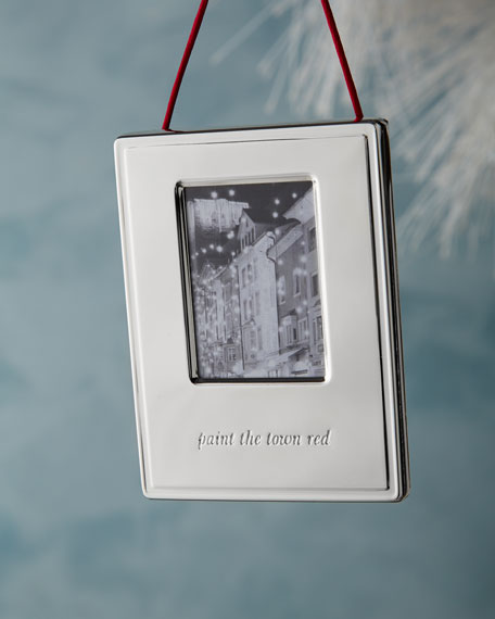 """""""Paint the Town Red"""" Christmas Ornament"""