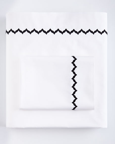 King Solid White 200TC Fitted Sheet
