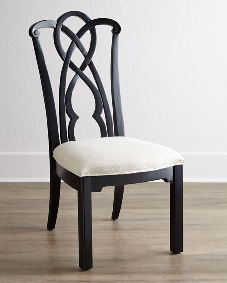 Two Marcella Mahogany Splat-Back Side Chairs