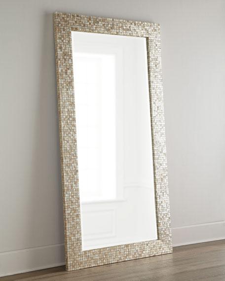 Tonal Capiz Floor Mirror