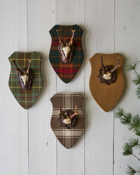 Plaques with Faux Antlers