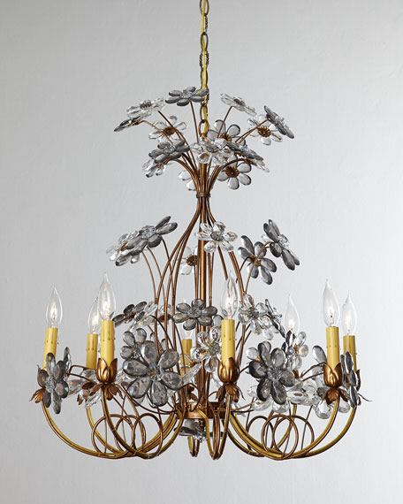 Golden Daisy Chandelier