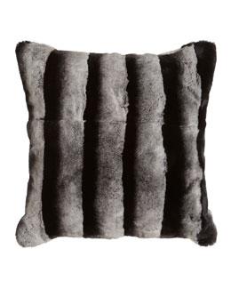 Adrienne Landau Rex Chinchilla-Printed Black-and-White Pillow