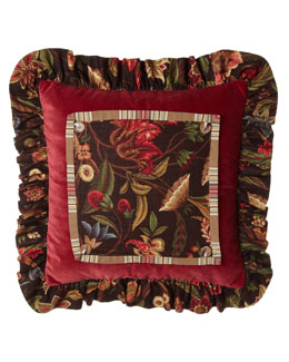 French Laundry Home Lara Floral Pillow with Mini Ruffle