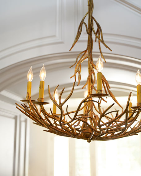 Iron twig eight light chandelier mozeypictures Choice Image
