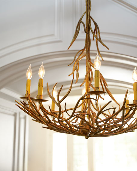 Iron-Twig Eight-Light Chandelier