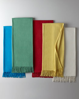 Sofia Cashmere Woven Fringed Throw