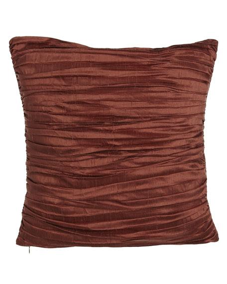 "Pleated Silk Pillow, 18""Sq."