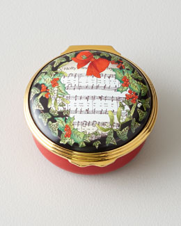 Halcyon Days Enamels Holly & Ivy Christmas Box