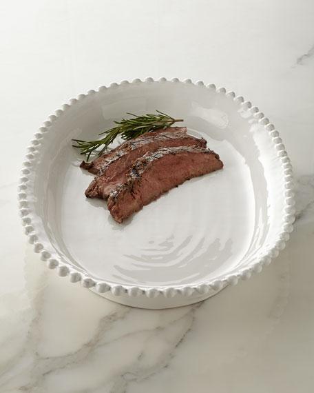 Beaded-Edge Oval Platter