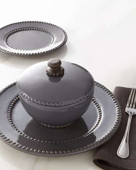 G G Collection Gray Livingstone Covered Bowls Set of 2 & G G Collection Gray Livingstone Dinnerware