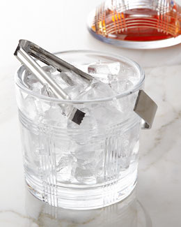 Lauren Ralph Lauren Glen Plaid Ice Bucket with Tongs