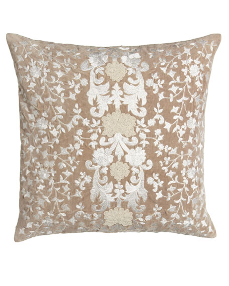 "Avalon Square Pillow with Natural Ground, 22""Sq."