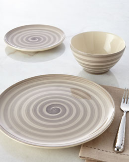 NM EXCLUSIVE 12-Piece Swirl Dinnerware Service