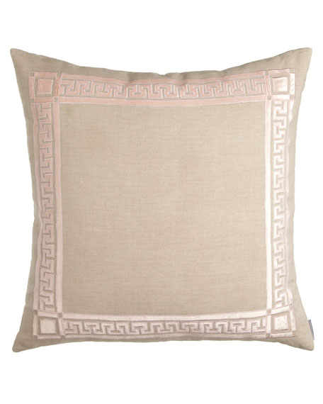 "Mackie 28""Sq. Greek Key Pillow"
