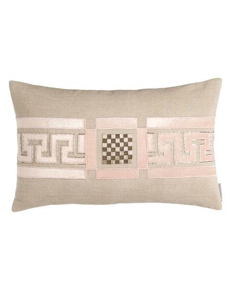 "Mackie 14"" x 22"" Greek Key Pillow"