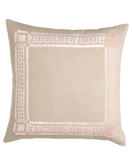 "Mackie 24""Sq. Greek Key Pillow"