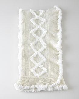 Adrienne Landau Knit Rabbit Throw