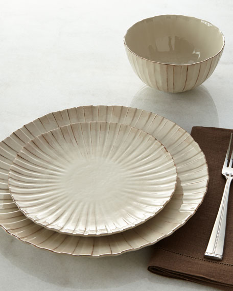 12-Piece Shell Ridge Dinnerware