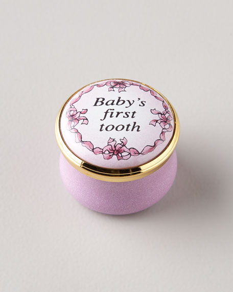 Pink Baby's First Tooth Box