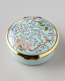 "Halcyon Days Enamels ""Daughter You Mean The World To Me"" Box"