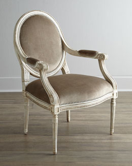 Massoud Kenzie Velvet Chair