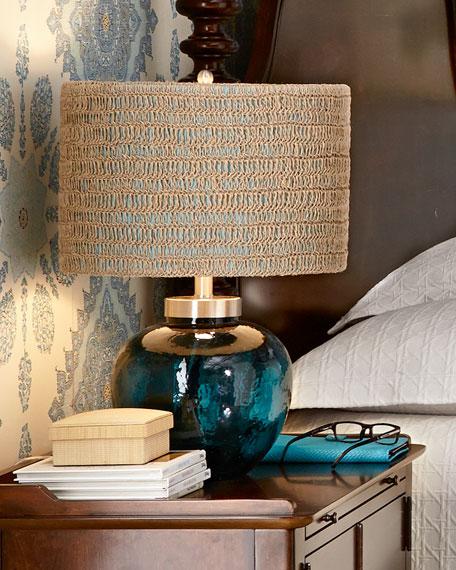 Azure Glass Lamp