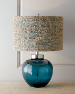Azure Glass Lamp