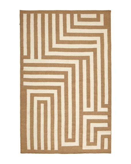 Graphic Maze Flatweave Rug, 8' x 11'