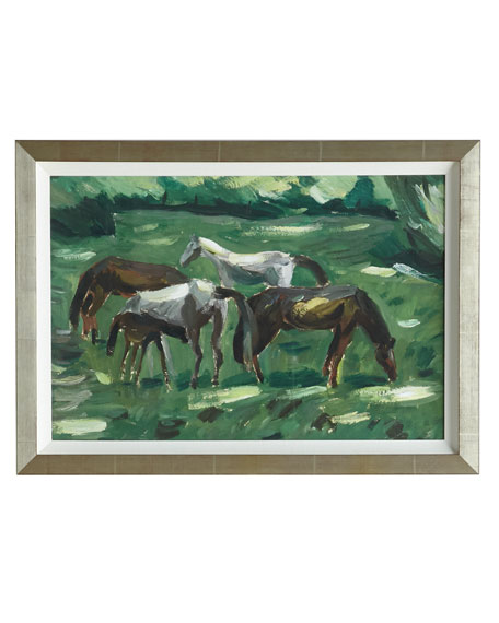 """Grazing Ponies"" Giclee"