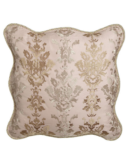 Sweet Dreams Alessandra Scalloped Damask European Sham
