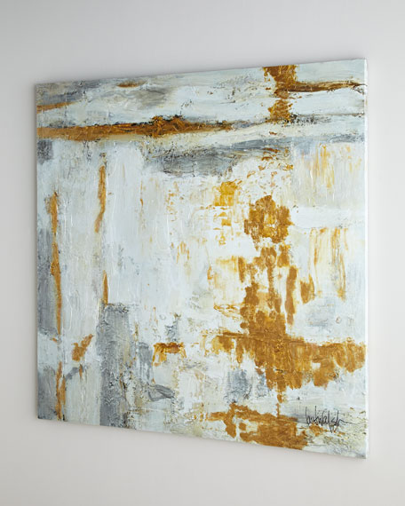 Large White & Gold Abstract