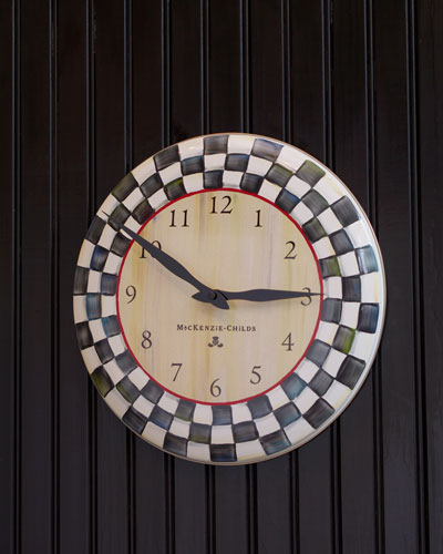Courtly Check Clock