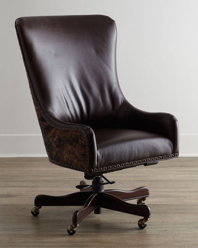 Brindle & Leather Office Chair