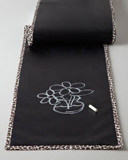 Reversible Chalkboard Table Runner