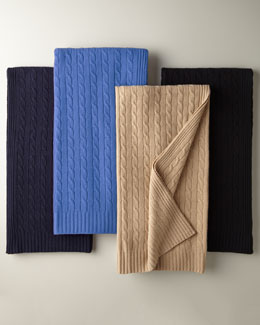 Ralph Lauren Cashmere Cable-Knit Blanket
