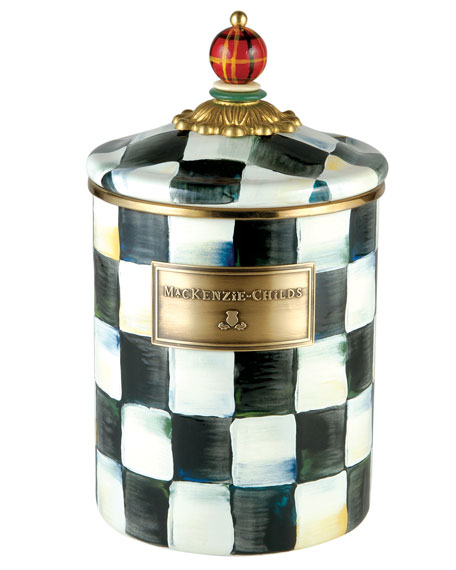 Medium Courtly Check Canister