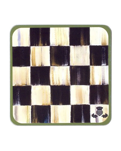 Courtly Check Coasters  Set of 4