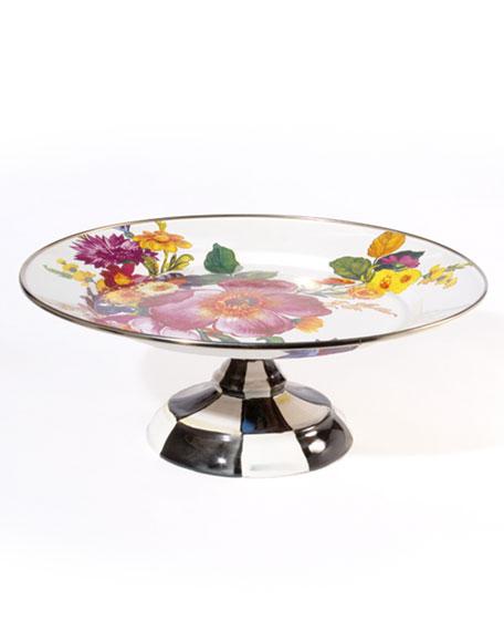 Small Flower Market Pedestal Platter