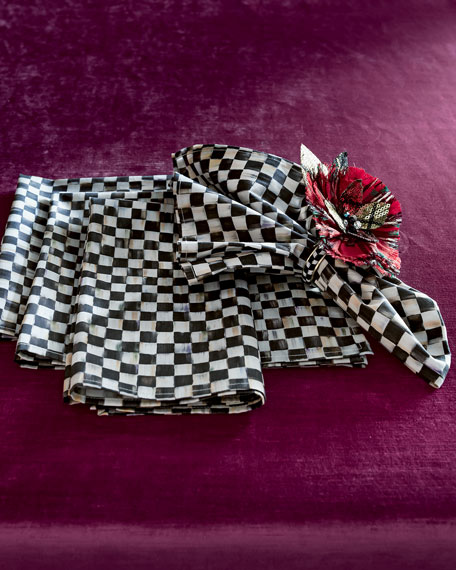 "Courtly Check Napkin with 1""Sq. Check Pattern"