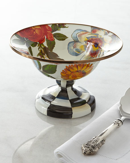 MacKenzie-Childs Small Flower Market Compote
