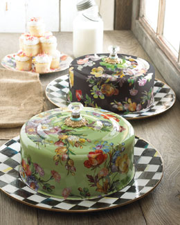 MacKenzie-Childs Flower Market Cake Carrier