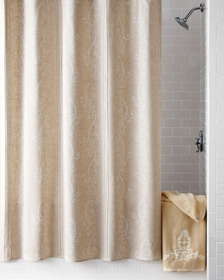 """French Perle"" Shower Curtain"