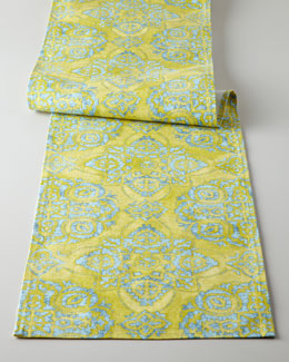 Chartreuse Medallion Table Runner