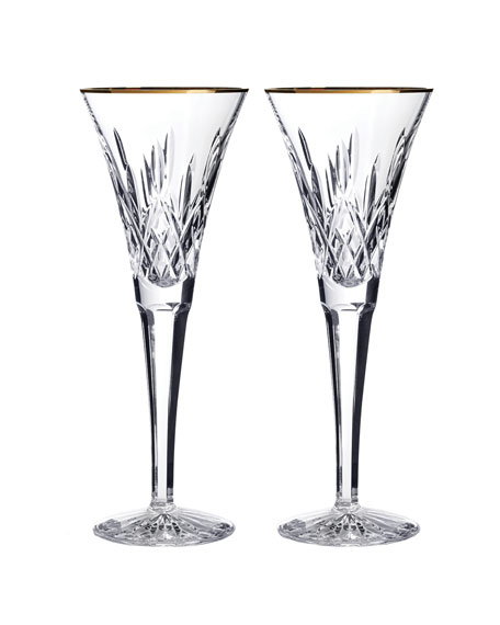Lismore Toasting Flutes, Set of 2