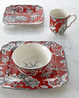 16-Piece Adelaide Red Dinnerware Service